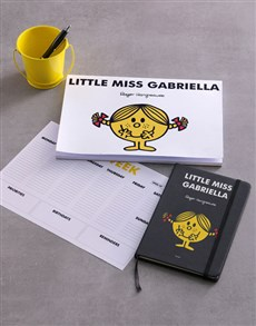 gifts: Personalised Yellow Little Miss Stationery Set!