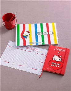 gifts: Personalised Red Hello Kitty Stationery Set!