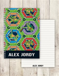 gifts: Personalised TMNT Notebook!