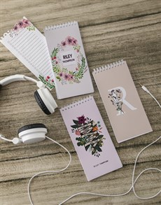gifts: Personalised Flower Wreath Note Set!