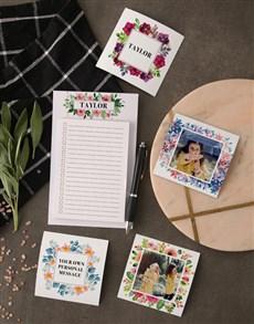 gifts: Elegant Floral Fridge Magnet Set!