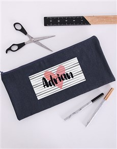 gifts: Personalised Heart You Pencil Bag!