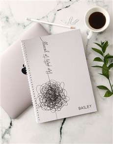 flowers: Personalised Path To Success Notebook!