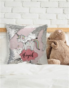 gifts: Personalised Unicorn Sequin Cushion!