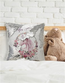 gifts: Personalised Floral Unicorn Sequin Cushion!
