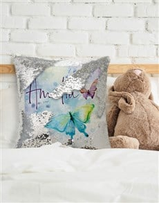 gifts: Personalised Butterfly Sequin Cushion!