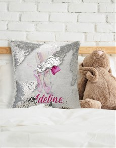 gifts: Personalised Ballet Sequin Cushion!