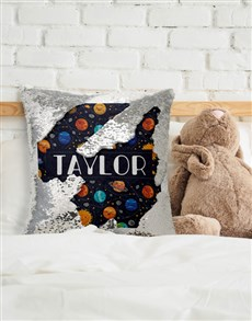 gifts: Personalised Planet Sequin Cushion!