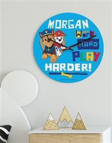 gifts: Personalised Work Is Play Kids Clock !