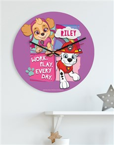 gifts: Personalised Work Play Everyday Kids Clock!