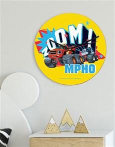 gifts: Personalised Zoom Wheels Kids Clock !