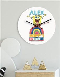 gifts: Personalised Happy SpongeBob Kids Clock!