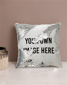 gifts: Personalised Own Message Sequin Cushion!