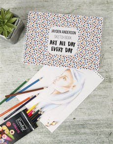 gifts: Personalised Art All Day Sketch Book!