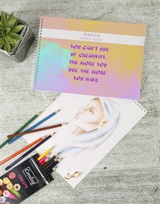 gifts: Personalised Unlimited Creativity Sketch Book !