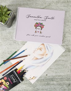 gifts: Personalised Creative Spirit Sketch Book !