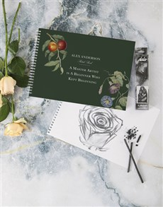 gifts: Personalised Master Artist Sketch Book !