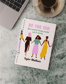 gifts: Personalised Be The CEO Notebook!