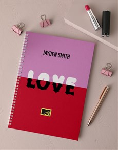 gifts: Personalised Love MTV Notebook!
