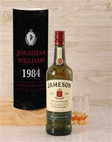gifts: Personalised Jameson Irish Whiskey Crest Tube!