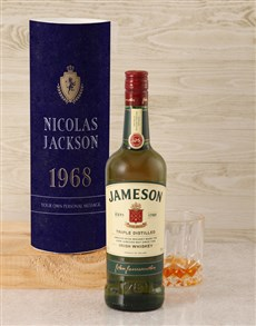 gifts: Personalised Jameson Whiskey Classic Tube!