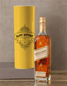 gifts: Personalised Johnnie Walker Whisky Deco Tube!