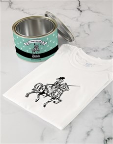 gifts: Personalised Knight in Shining Armour T Shirt Tin!