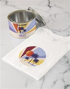 gifts: Personalised Island Birthday T Shirt Tin!