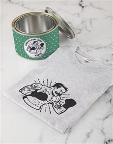 gifts:  Personalised Congrats Champ T Shirt Tin!