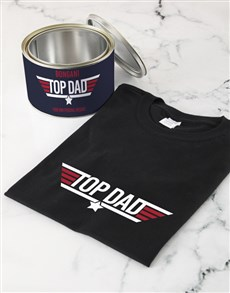 gifts: Personalised Top Dad T Shirt Tin!