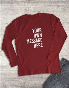 gifts: Personalised Red Ladies Long Sleeve Shirt!