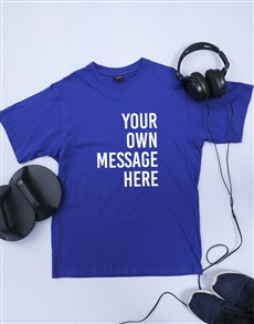 gifts: Personalised Royal Blue Mens T Shirt!