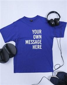 gifts: Personalised Royal Blue Mens T Shirt!