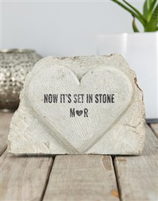 gifts: Personalised Set in Stone Heart!