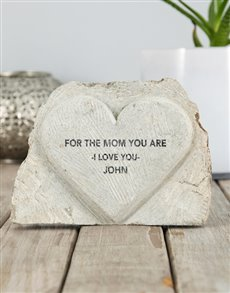 gifts: Personalised The Mom You Are Stone Heart!