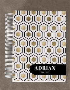 gifts: Personalised Honeycomb Diary Set!