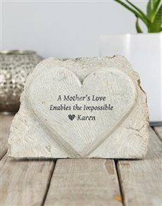 gifts: Personalised Mother Love Stone Heart!