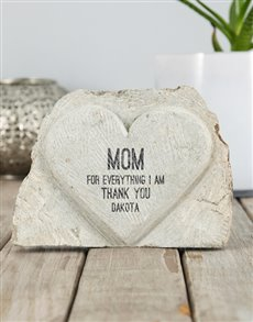 gifts: Personalised Thank You Mom Stone Heart!
