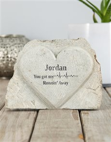 gifts: Personalised Heartbeat Stone Heart!