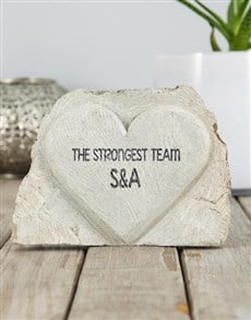 gifts: Personalised Strongest Team Stone Heart!