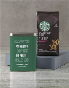 gifts: Personalised Starbucks Friendship Coffee Tin!