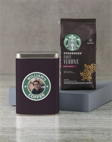 gifts: Personalised Starbucks Coffee Tin!