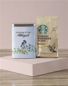 gifts: Personalised Starbucks Thinking Coffee Tin!