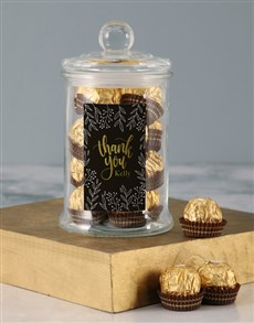 gifts: Personalised Thank You Gold Ferrero Candy Jar!