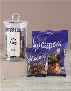 gifts: Personalised Apology Whispers Candy Jar!