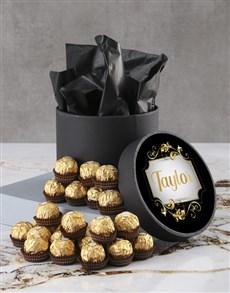 gifts: Personalised Elegant Ferrero Rocher Hatbox!