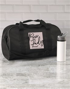 gifts: Personalised Boss Lady Gym Bag!