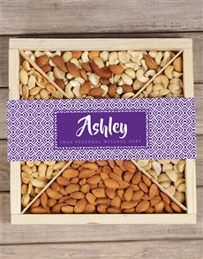gifts: Personalised Purple Nut Tray!