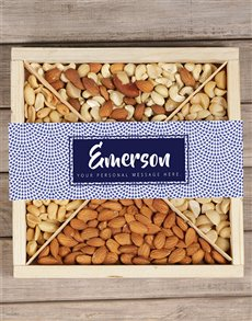 gifts: Personalised Blue Nut Tray!