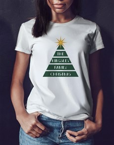 gifts: Personalised Family Tree Ladies White T Shirt!